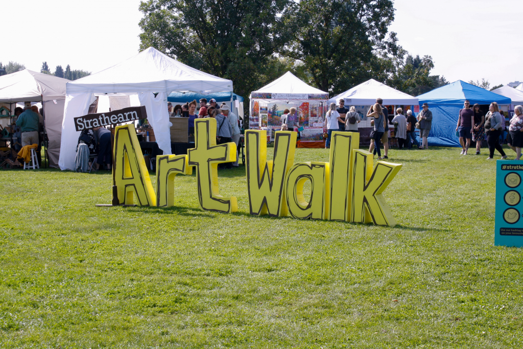 A 3-D sign greets visitors to the Strathearn Art Walk, September 7, 2019