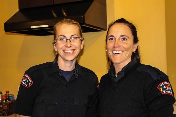 Fire dispatchers Caryn Halstead and Allison Secord are known to the families at Ronald McDonald House as the Firegirls