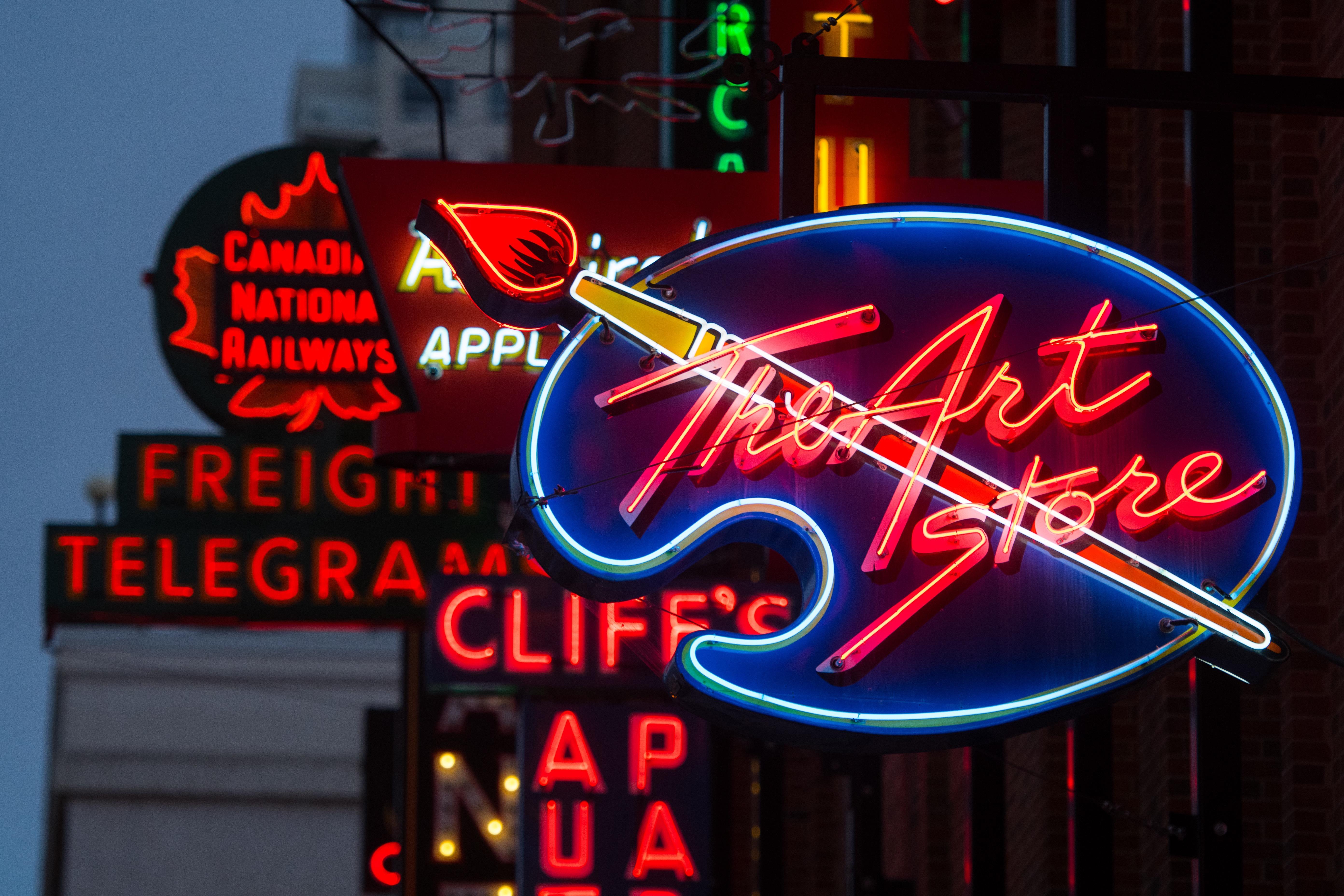 Edmonton's Neon Sign Museum Celebrates 5th Anniversary!