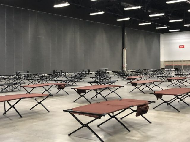 EXPO Centre readied as COVID-19 precautions heightened for Edmonton's most vulnerable