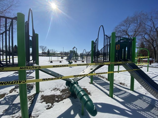City closes playgrounds and urges residents to practice physical distancing