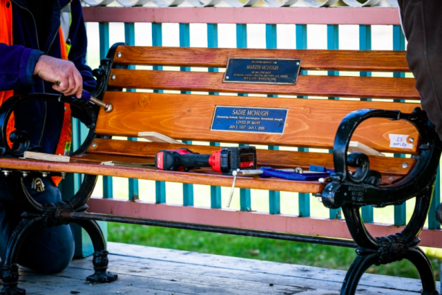 City bench plaques get another chance to make first impression
