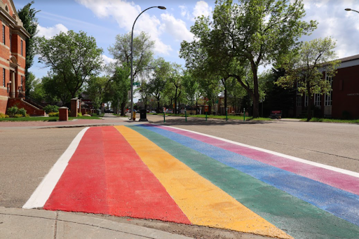 City crosswalks get coat of many colours for Pride