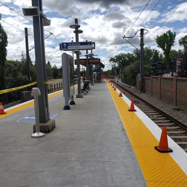 TLC for LRT: McKernan/Belgravia Station gets a refresh