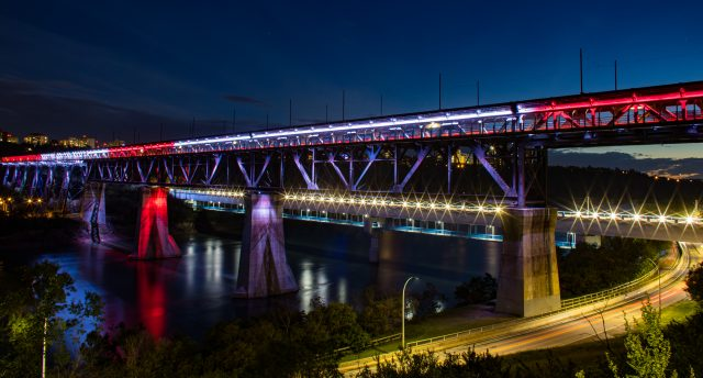 High Level Bridge in Edmonton highlights Champions League win for Alphonso Davies