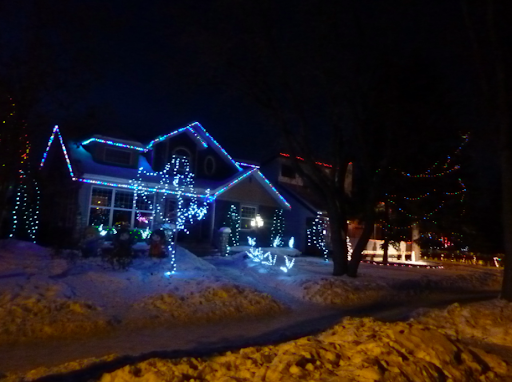Scene from Candy Cane Lane