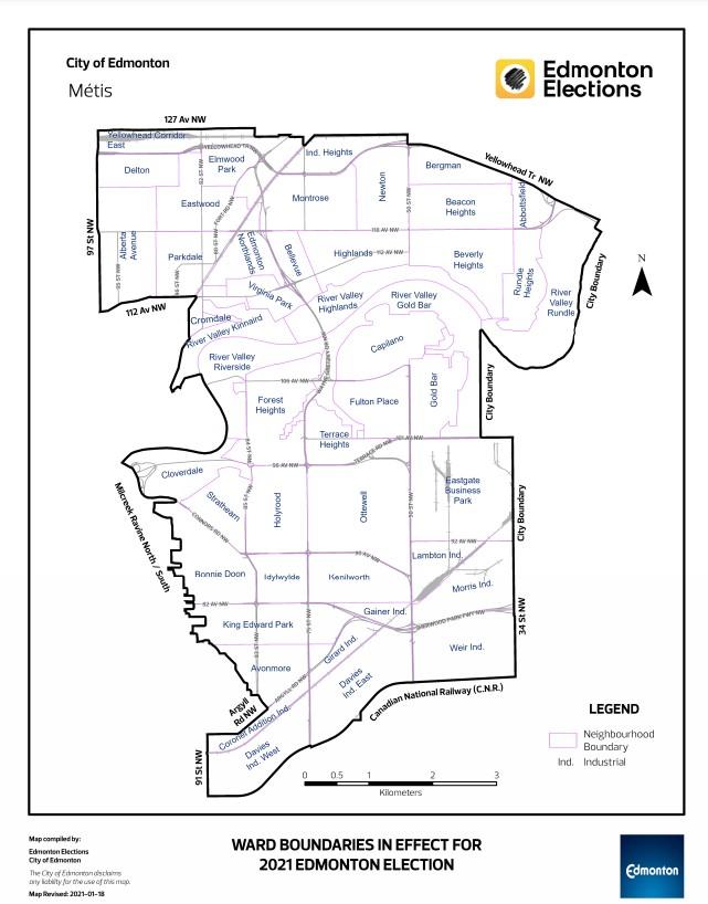 Metis Ward Map