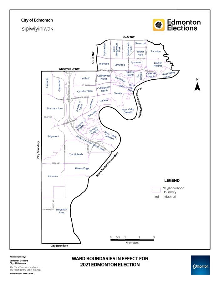 sipiwiyiniwak ward map