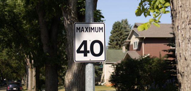 Edmonton's default speed limit moves to 40 km/h on Aug. 6