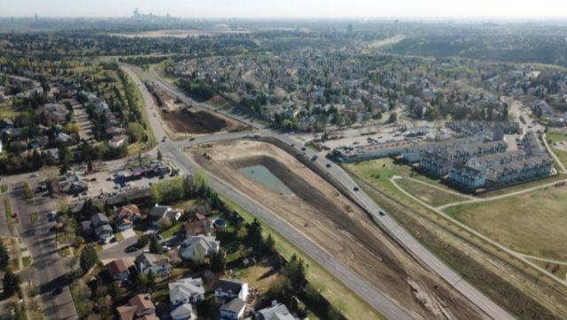 Terwillegar Drive Expressway: Construction is underway